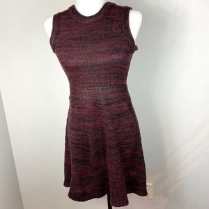 For Love & Lemons Dress Knitz Burgundy Sleeveless
